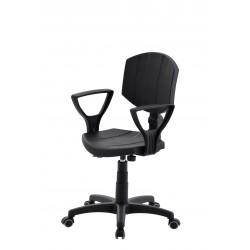 Obrotowe krzesło laboratoryjne z podłokietnikami - poliuretanowe - KPU04p-A1