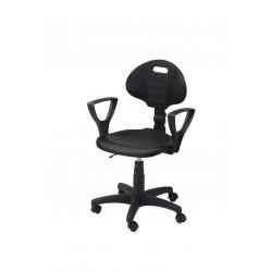 Krzesło laboratoryjne z podłokietnikami - KPU01p-A1