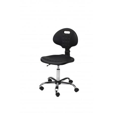 Krzesło obrotowe laboratoryjne - poliuretanowe - wersja chrom - KPU01-C1