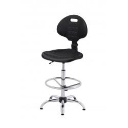 Krzesło laboratoryjne z podnóżkiem - KPU01-C3