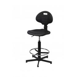 Krzesło laboratoryjne z podnóżkiem - KPU01-B2