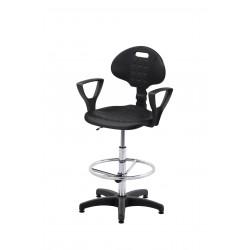 Krzesło laboratoryjne z podnóżkiem - KPU01p-A3