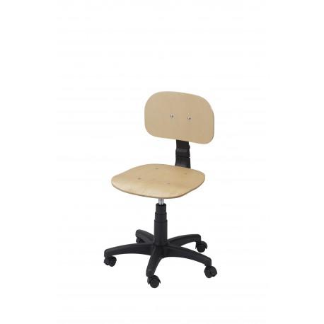 Obrotowe krzesło warsztatowe ze sklejki - KLM01-A1