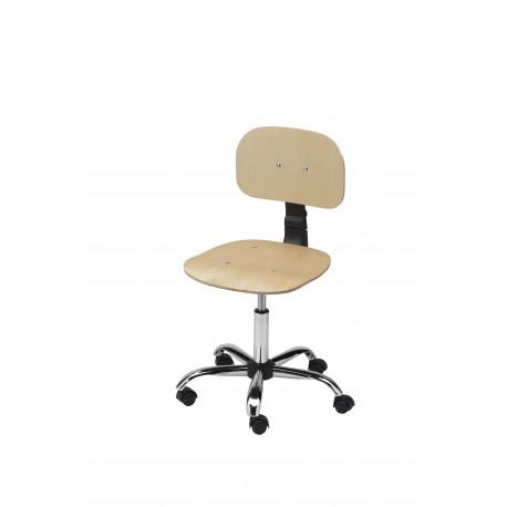 Obrotowe krzesło warsztatowe ze sklejki - KLM01-C1
