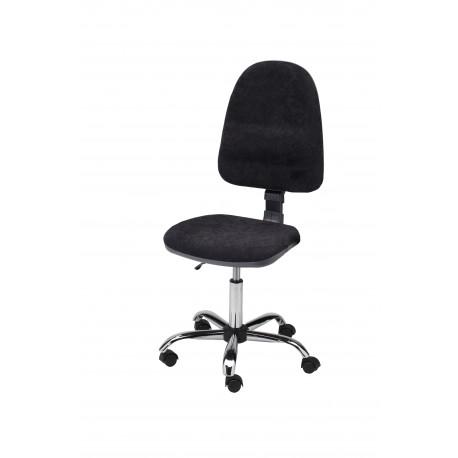 Obrotowe krzesło biurowe tapicerowane tkaniną - wersja chrom - KTT01-C1
