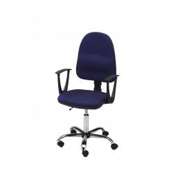 Obrotowe krzesło biurowe z podłokietnikami, tapicerowane tkaniną - wersja chrom - KTT01p-C1